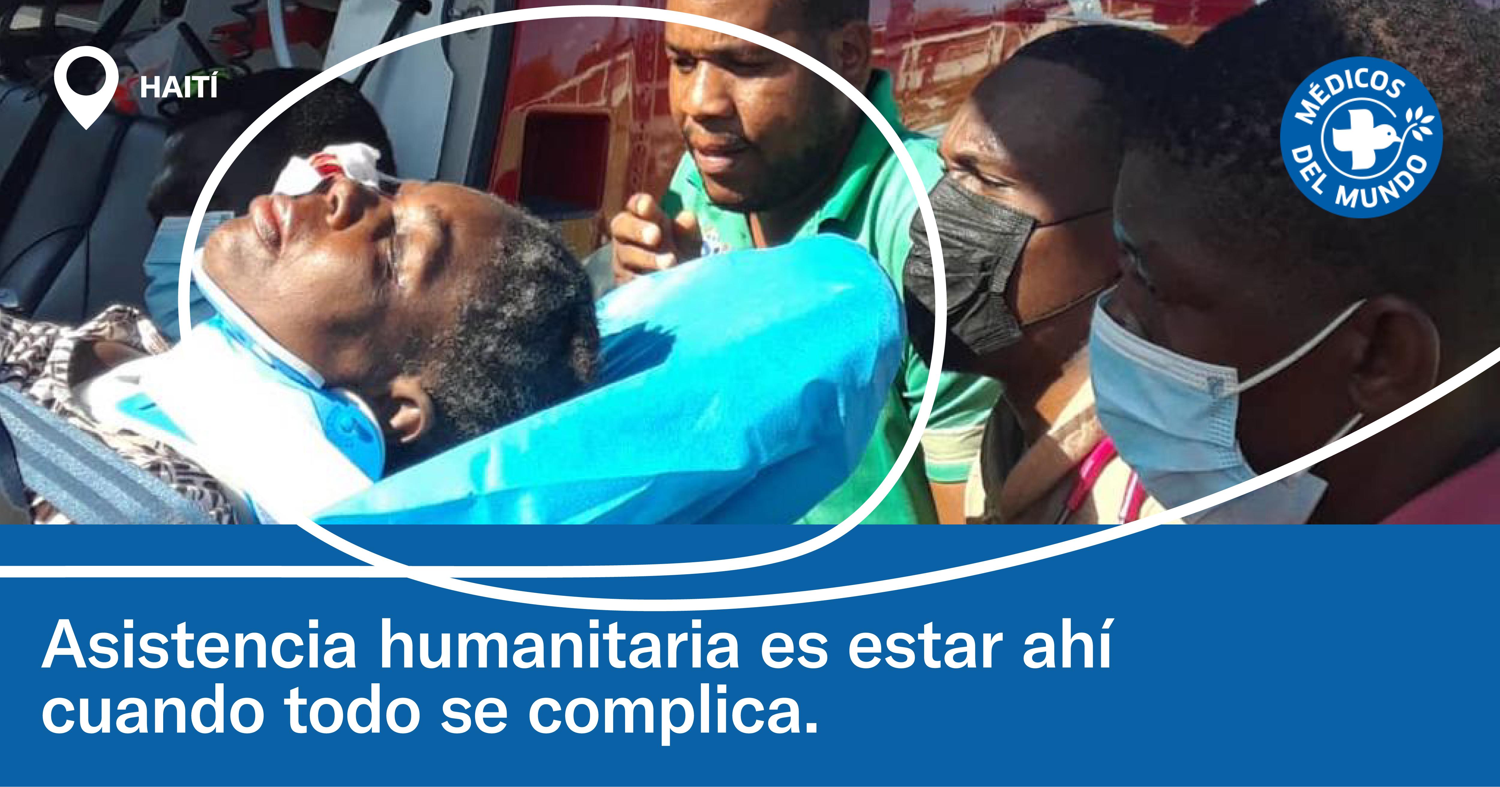 Asistencia humanitaria en el terremoto de Haití del 14 de agosto de 2021. ©Médicos del Mundo Canadá