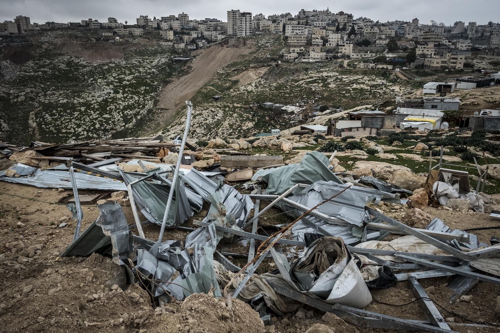 Asentamiento israelí de Ma'ale Adumim, a las afueras de Jerusalén. La comunidad afectada se llama al Aizzarya.