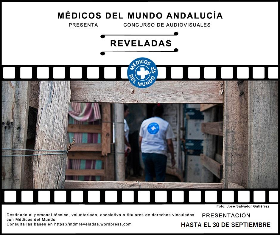 Cartel del concurso Reveladas que impulsa Médicos del Mundo Andalucía