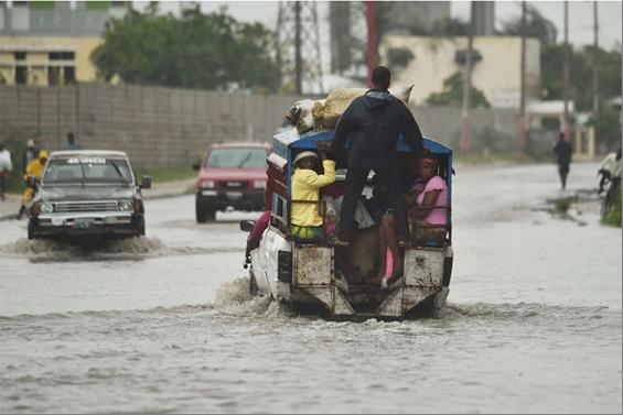 Imagen de las inundaciones en Haití