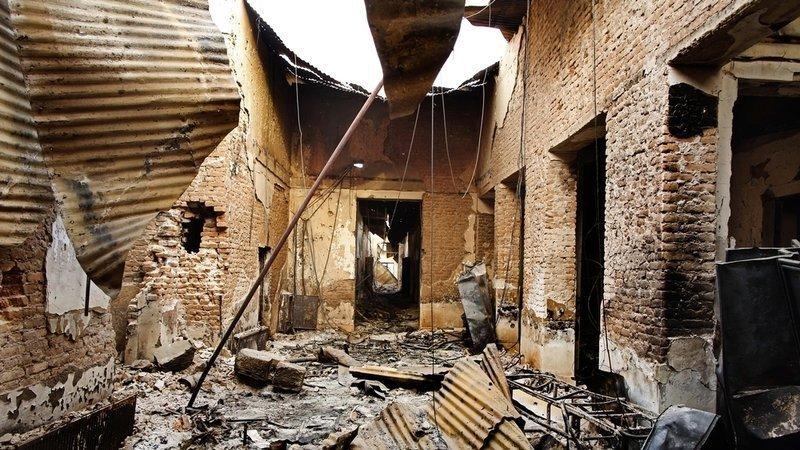 imagen del hospital destruido de MSF. Fotografía de Andrew Quilty