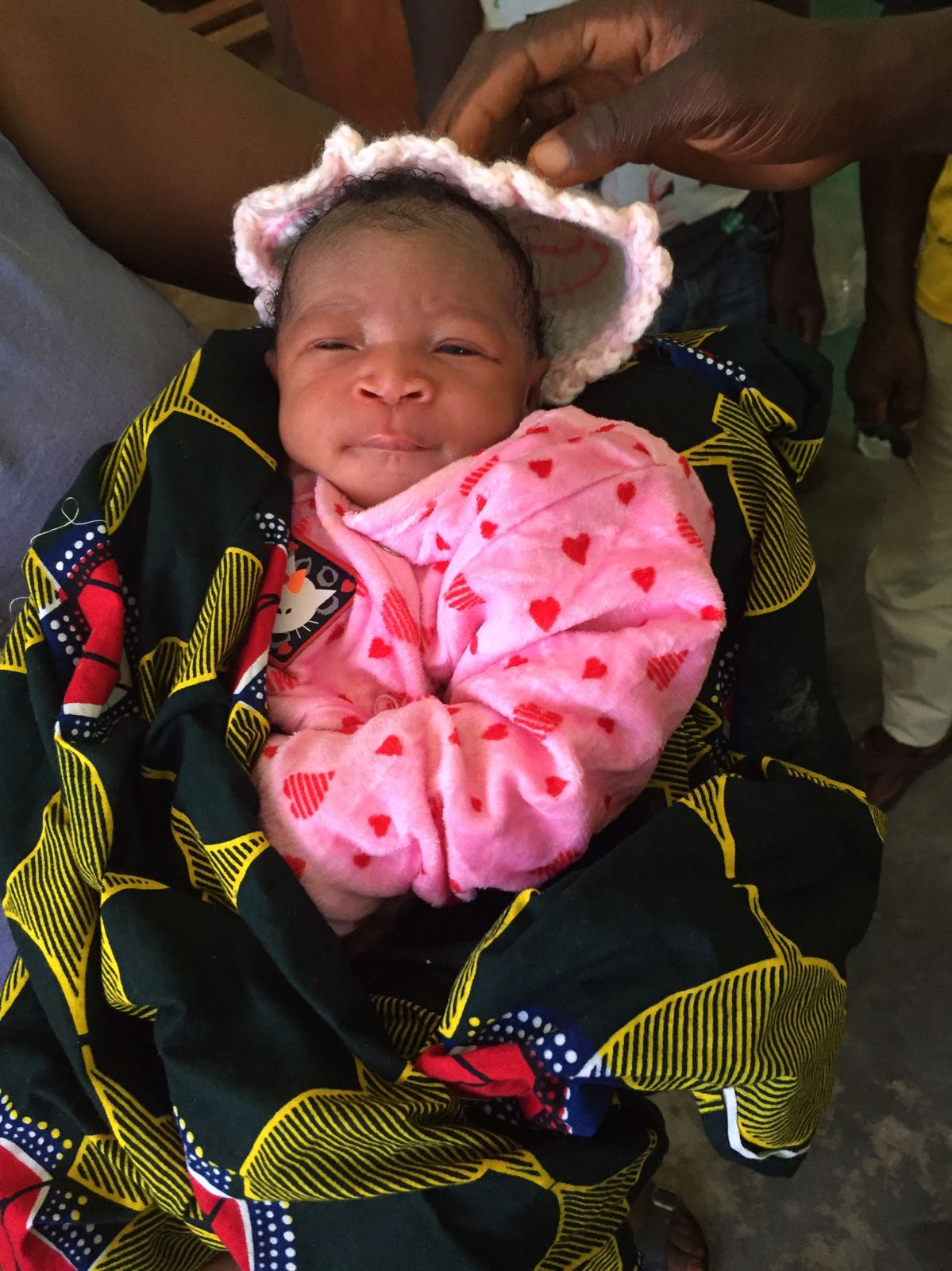Sandra, primer bebé nacido en la sala de partos.