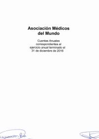 portada del informe de auditoría 2016