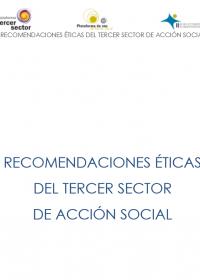 Portada informe Recomendaciones éticas del Tercer Sector de Acción Social