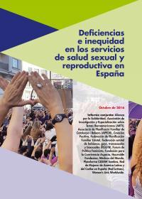 Portada Deficiencias e Inequidad en los servicios de salud sexual y reproductiva en España