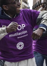 Acto contra la mutilación genital femenina en Madrid