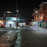 Imagen nocturna de las calles de Tapachula, México