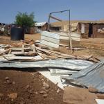 Vivienda destruida por el ejército israelí en Cisjordania