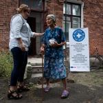 Persona mayor afectada por el conflicto en Ucrania