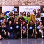Equipo organizador, voluntariado y ganadores y ganadores en el Festival Art 31