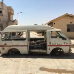 Una unidad móvil sanitaria es atacada en la localidad siria de Al Raqa,
