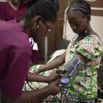 Sala de preparto en una maternidad del distrito de Kayes, Mali.