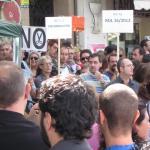 Manifestación frente al Hospital Gregorio Marañón el 1 de septiembre