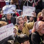 Personas refugiadas se manifiestan exigiendo soluciones a los gobiernos europeos