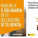 La X Solidaria es una campaña de la Plataforma de ONG de Acción Social.
