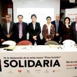 """Personas participantes en la rueda de prensa de presentación de la """"X Solidaria"""""""