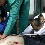 Omar, de 31 años, un soldado del Ejército Libre de Siria llegó al hospital a las 13:49 con una herida de bala en el pecho. Nueve minutos más tarde fue declarado muerto.