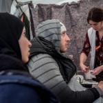 Equipo de Médicos del Mundo trabajando en el hospital de campaña en el campo de refugiados de Idomeni.