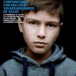 Fotografía de Doroftei de 10 años, sin vacunar y sin acceso a la educación. Saint-Denis Francia