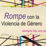 """Imagen de la campaña """"Rompe con la violencia de género de Federación de Mujeres Progresistas"""""""