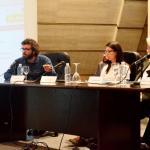 """Participantes de la mesa redonda """"Los titulares del ébola"""", organizada por la Universidad de La Laguna en Tenerife"""