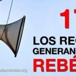 17 de octubre 2012, los recorters generan pobreza, rebélate