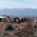Varias infraviviendas instaladas por personas refugiadas sirias en una zona deshabitada en el norte de Líbano.