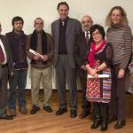 Grupo de personas galardonadas con los Premios Virgilio Palacio en la VIII edición.