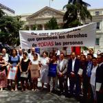 Más de 400 ONGD exigen en el Congreso unos presupuestos que respeten los derechos de todas las personas,