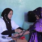 Atención sanitaria en los campamentos de personas refugiadas saharauis en Tinduf (Argelia).