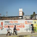 Pintadas en un muro de México avisando a los migrantes sobre sus derechos
