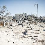 Ataque del ejército israelí en 2014 a la localidad de Beit Hanoun, al norte de Gaza