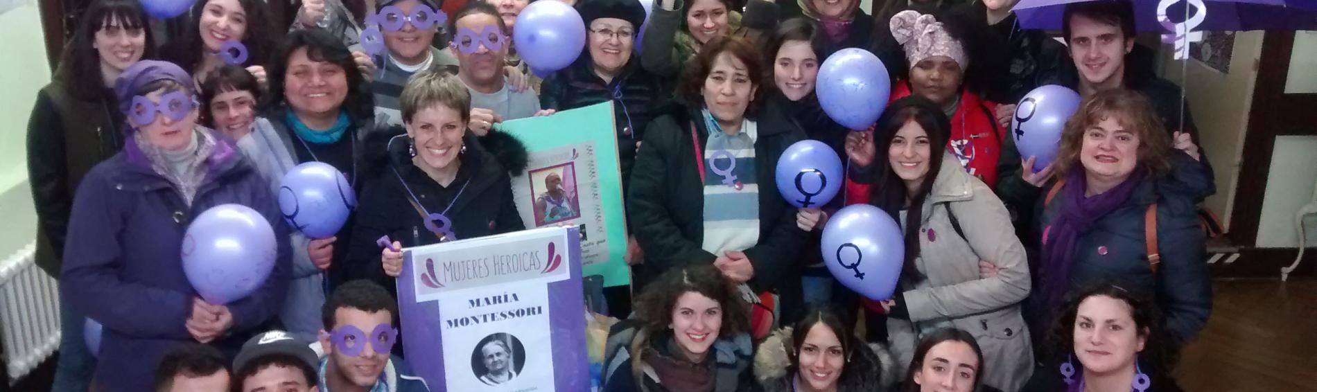 Participantes de la semana moradas mujeres heroicas
