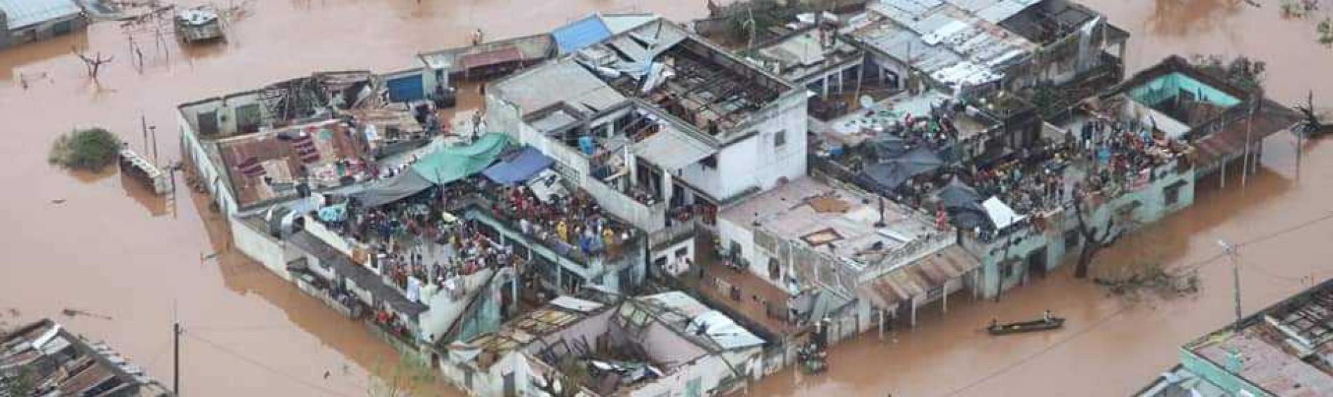 Zona inundada en la región afectada por el paso del ciclón Idai