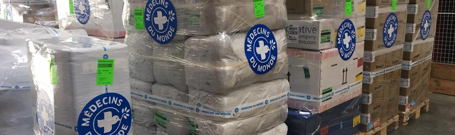 Medicinas y material sanitario preparado para enviar a Mozambique
