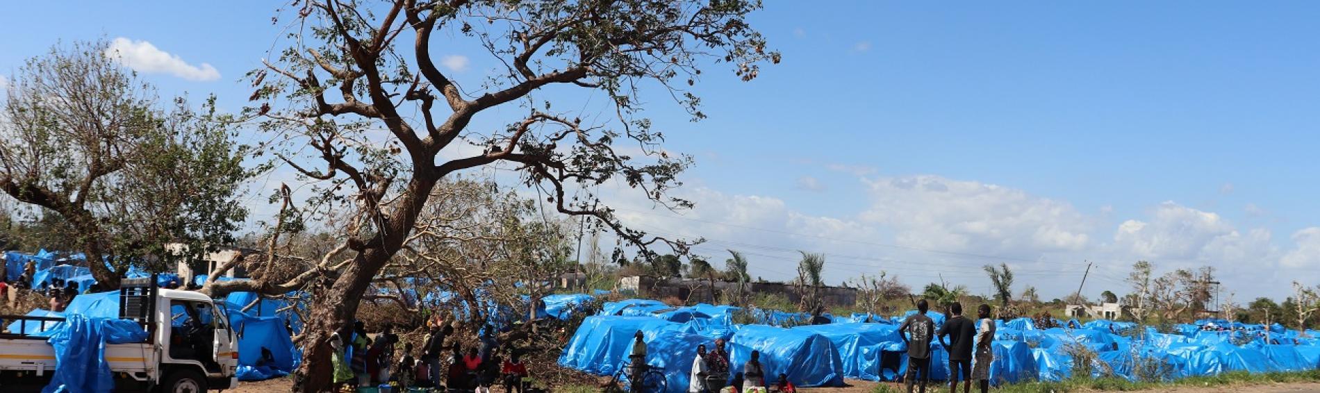 Vista del centro de personas desplazadas John Segredo