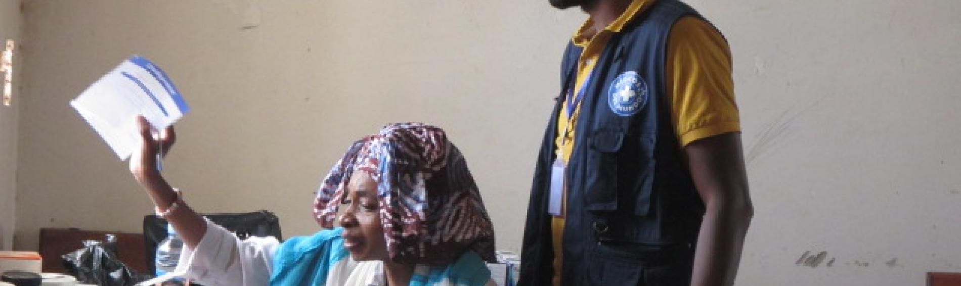 supervisión a centros de salud en Mauritania