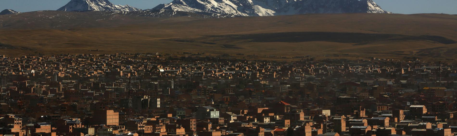 Vista de la ciudad de El Alto, en La Paz, Bolivia.