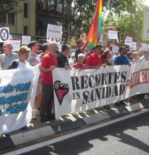 Manifestación contra los recortes en sanidad.