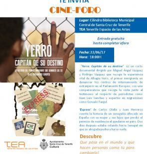 Cartel del Cine Foro en Santa Cruz de Tenerife