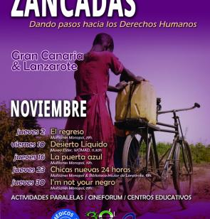 Cartel del ciclo de cine documental 'Zancadas'