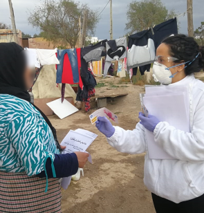 Prevención del coronavirus a personas en situación de exclusión social