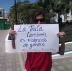 Carteles contra la trata realizados en la sede autonómica en Canarias
