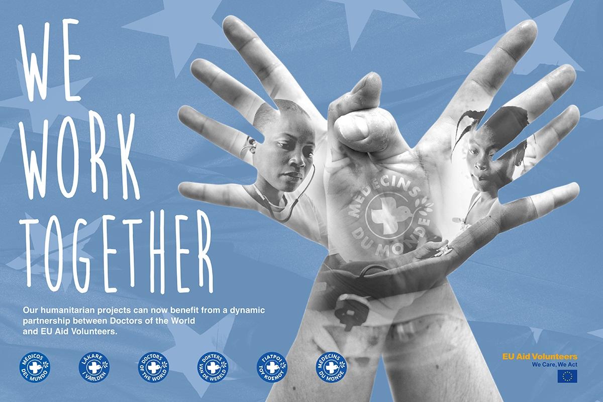 imagen del proyecto conjunto EU Aid Volunteers- Médicos del Mundo